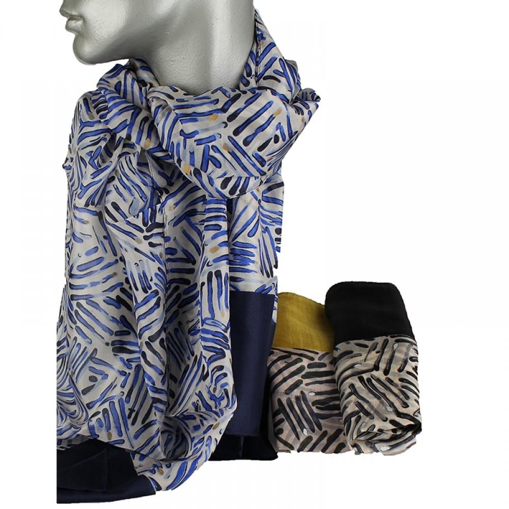 Aperitif silke tørklæde - Marquis blå