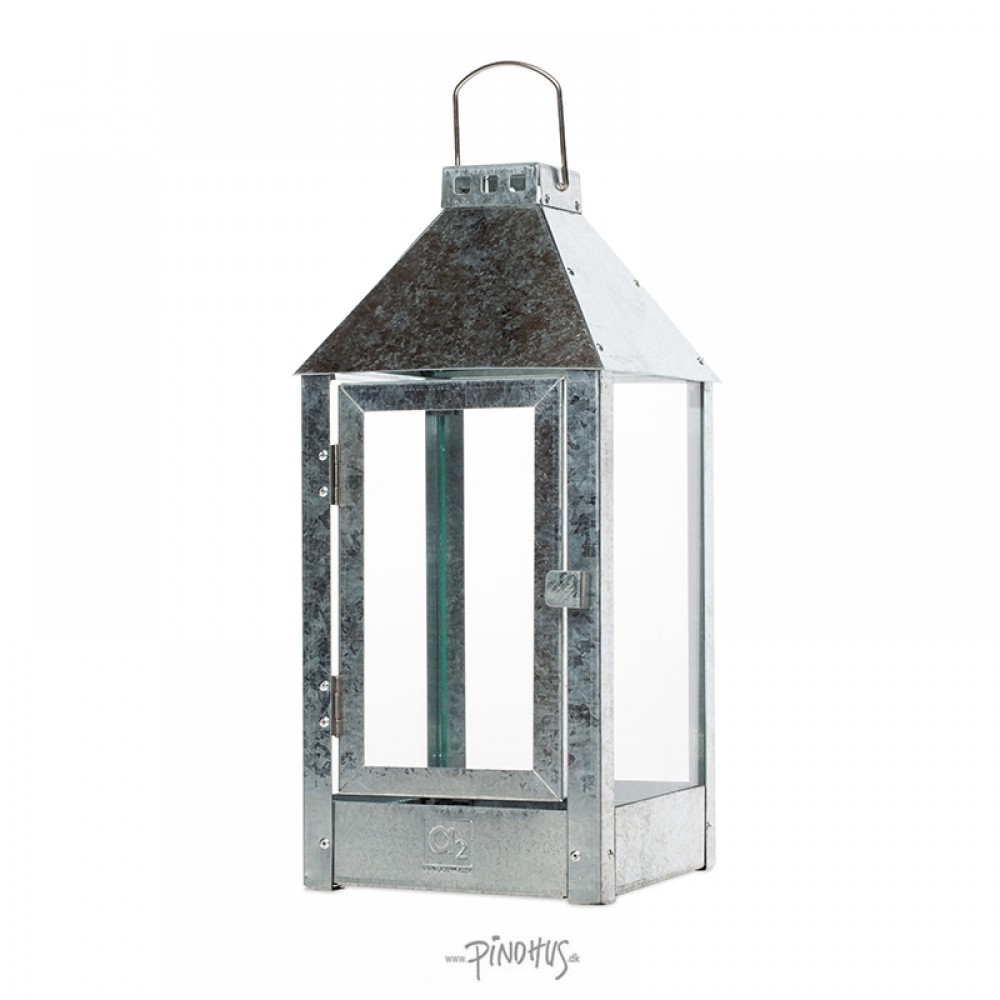 Galvaniseret lanterne - A2 living Midi