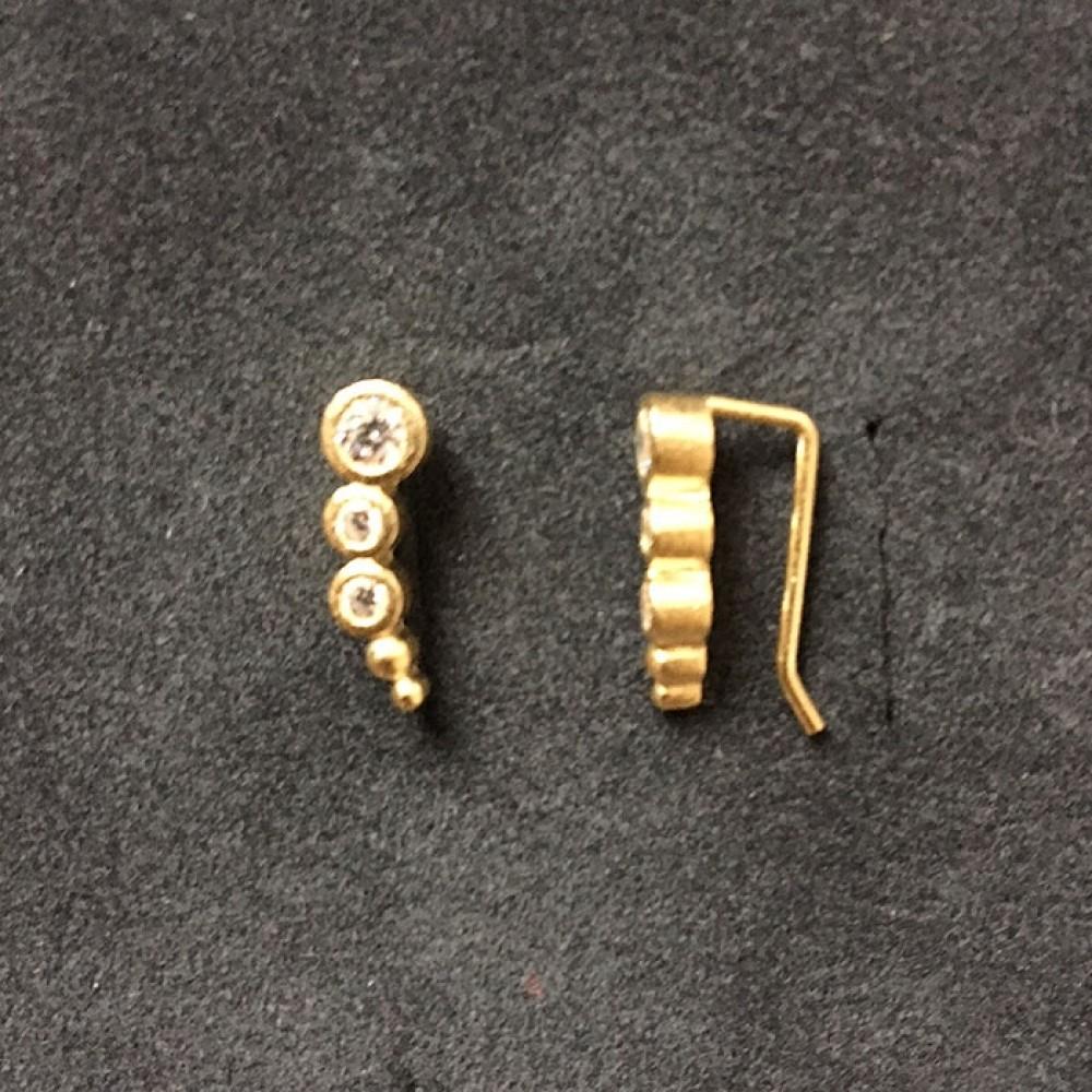 Øreringe Forgyldt m/klar krystal-31