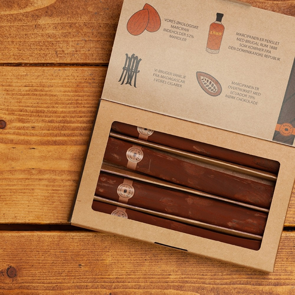 Anker chokolade - 4 stk cigarer