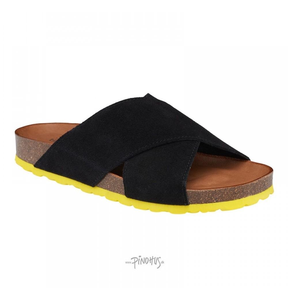 Annet sandal Sort m/gul bund-31