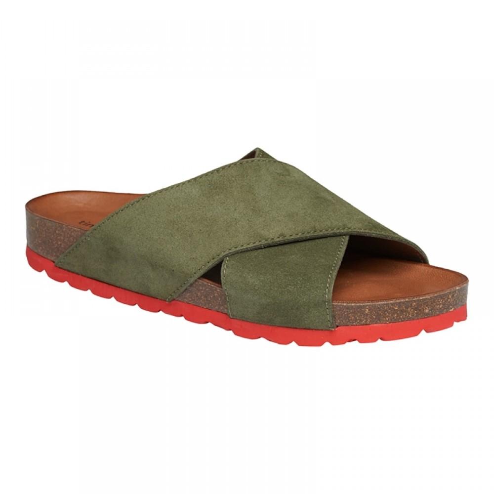 Annet sandal - Army m/rød bund