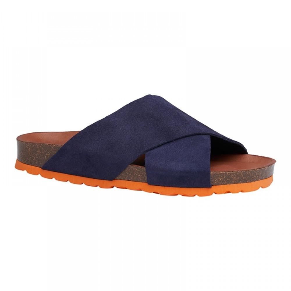 Annet sandal - Blå m/orange bund