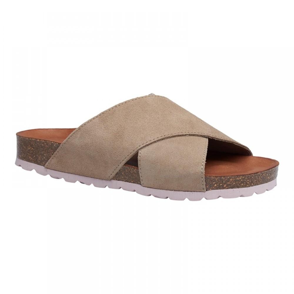 Annet sandal - Sand m/ rose bund