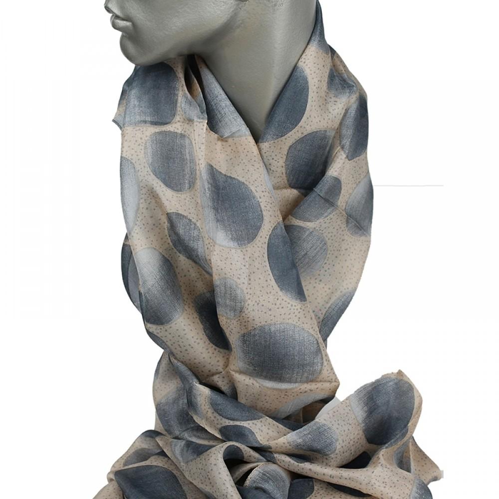Aperitif silke tørklæde Beige/dusty blue-31