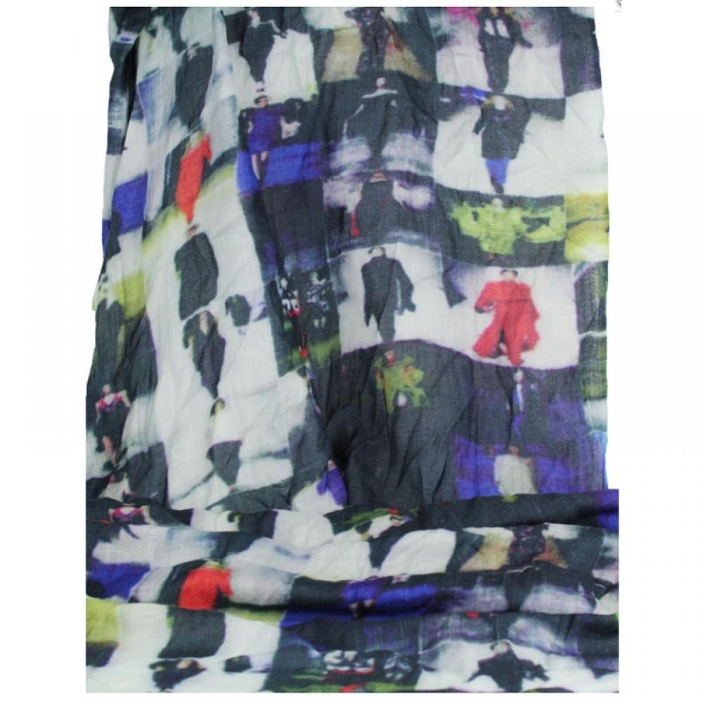 Tørklæde uld/silke Catwalk-31