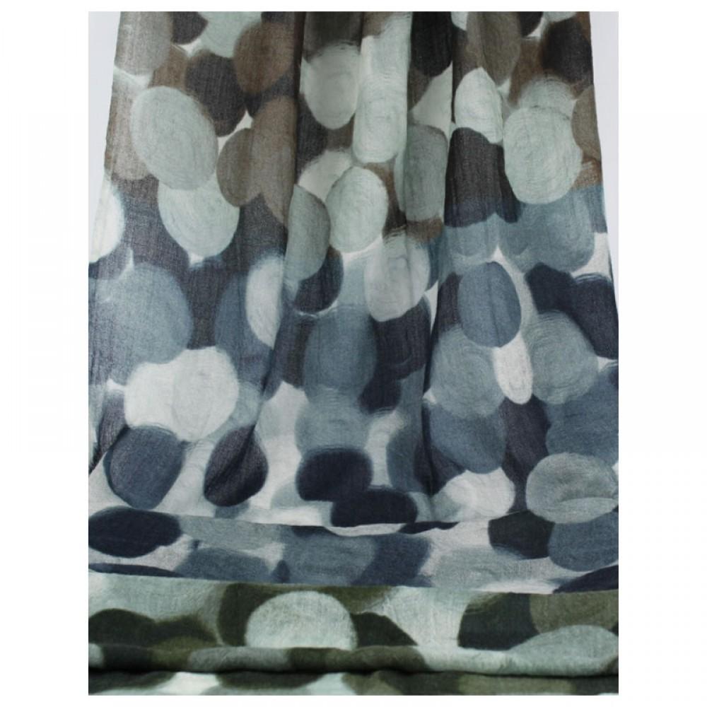 Tørklæde uld Polka-31