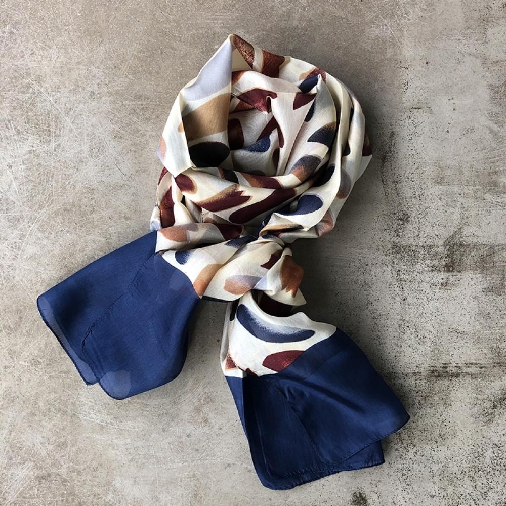 Aperitif silke tørklæde Blue autumn-31