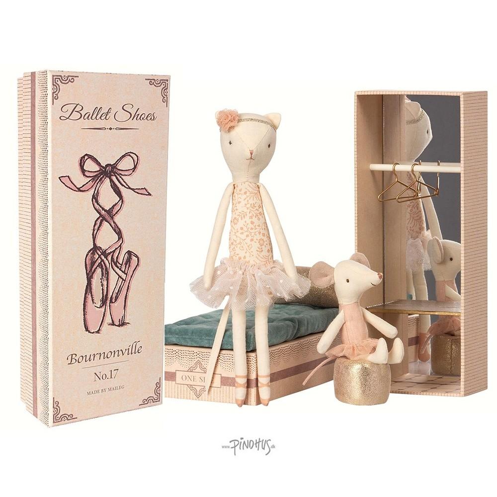 Maileg Ballerina kat and mus i æske-31