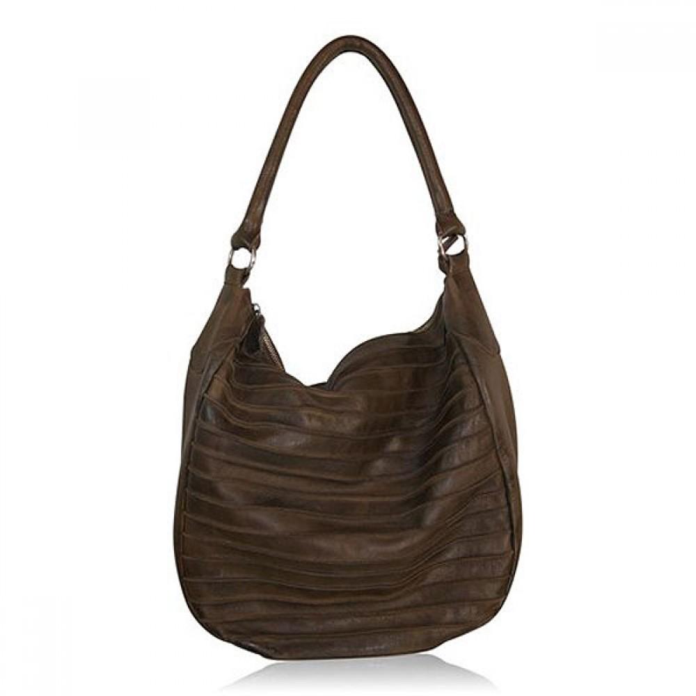 Skulder taske læder brun-30