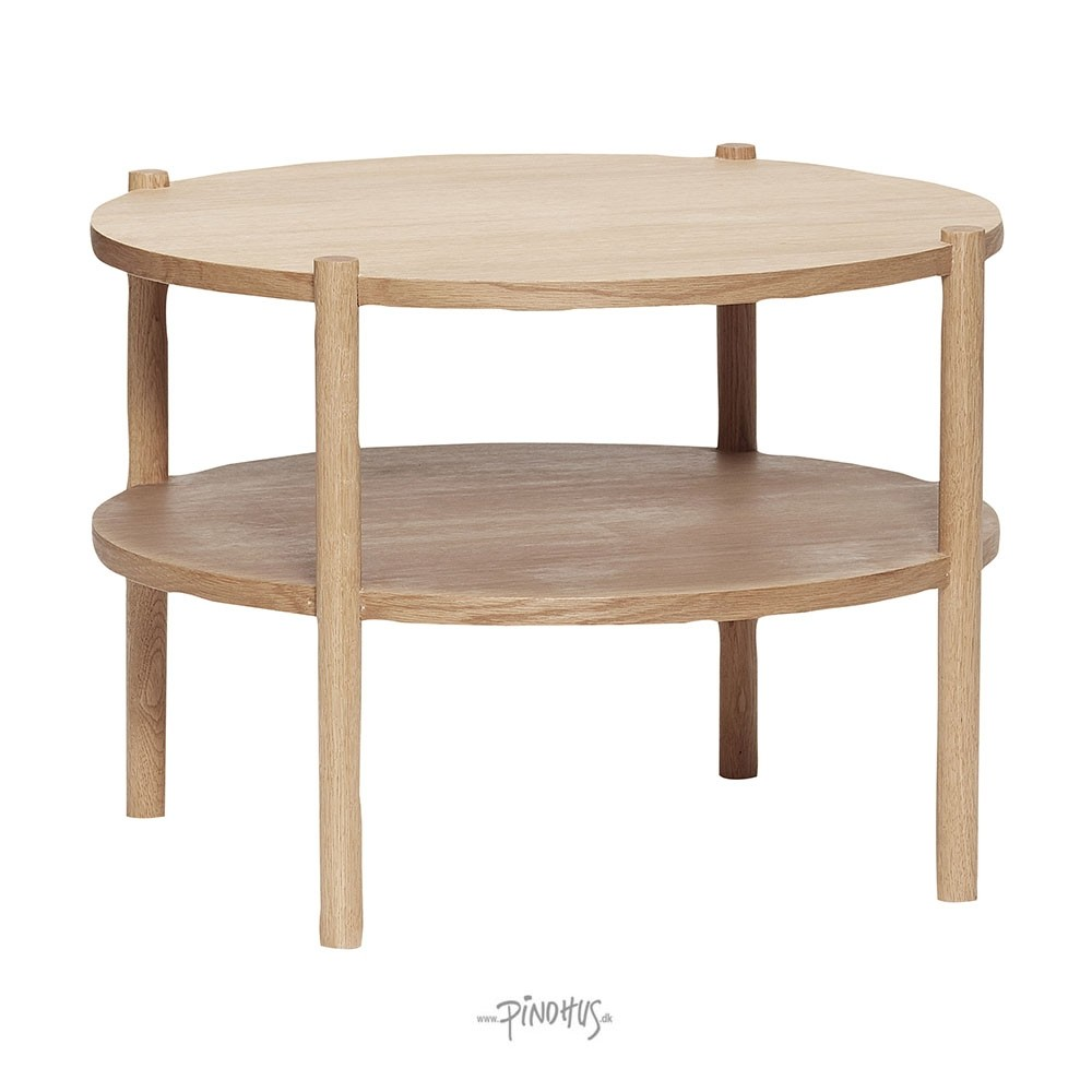 Rundt bord i egetræ Ø60cm-32