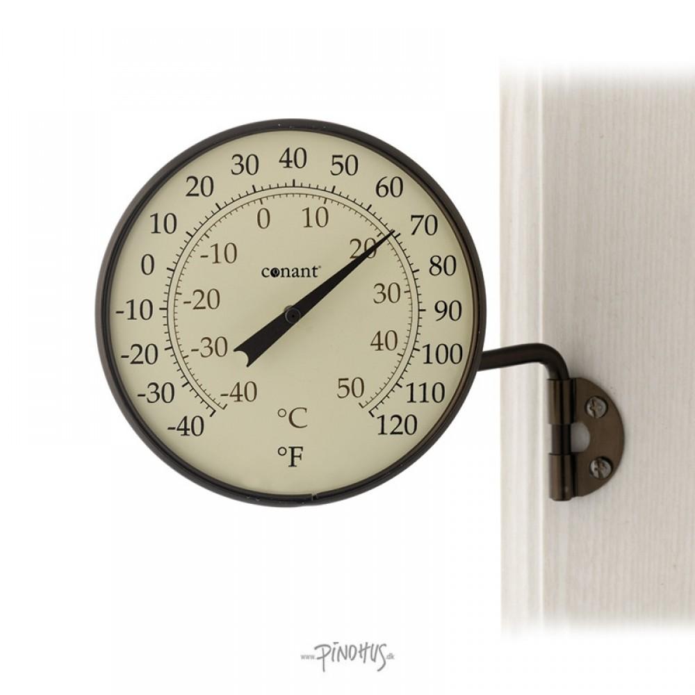 Udendørs alu bronze termometer Rundt-31