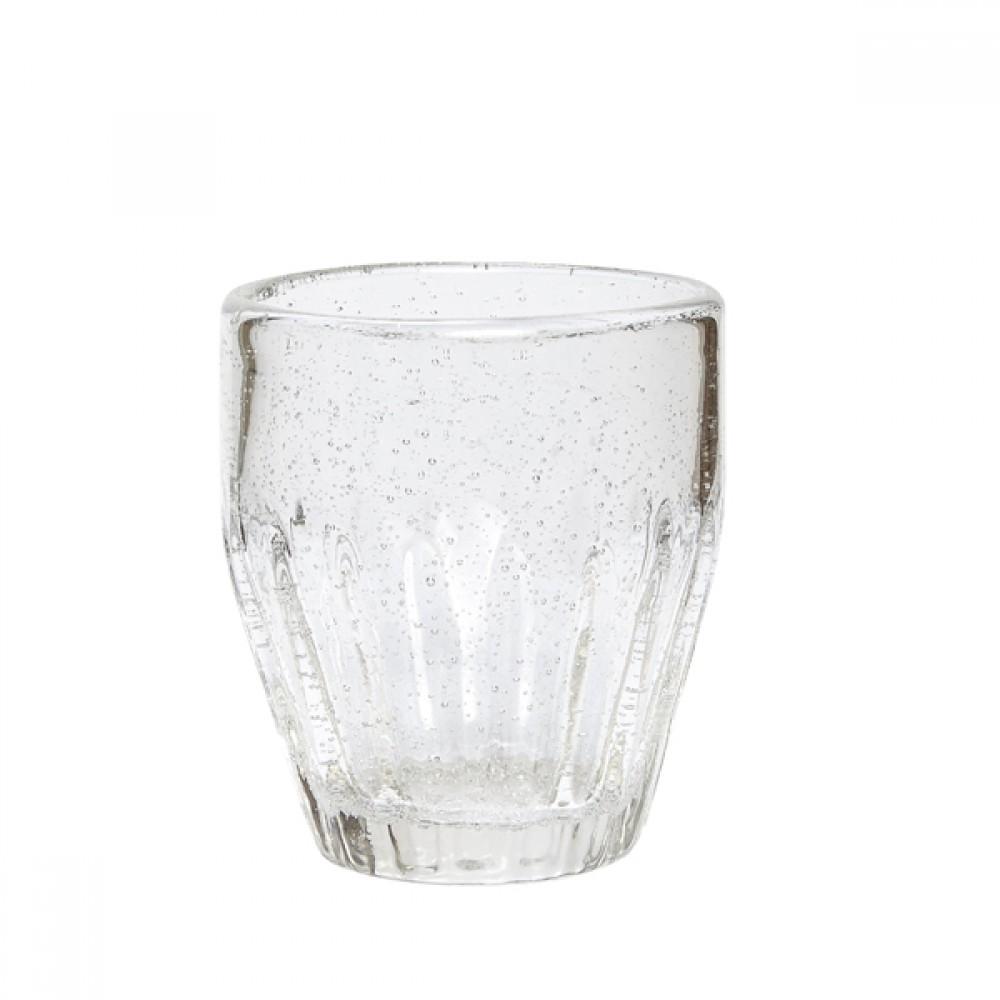 Drikkeglas m/ riller H10cm-30