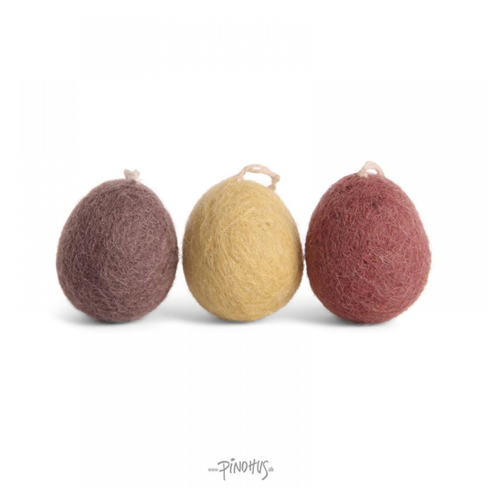 Én Gry & Sif - 3 stk lyse filt æg ophæng