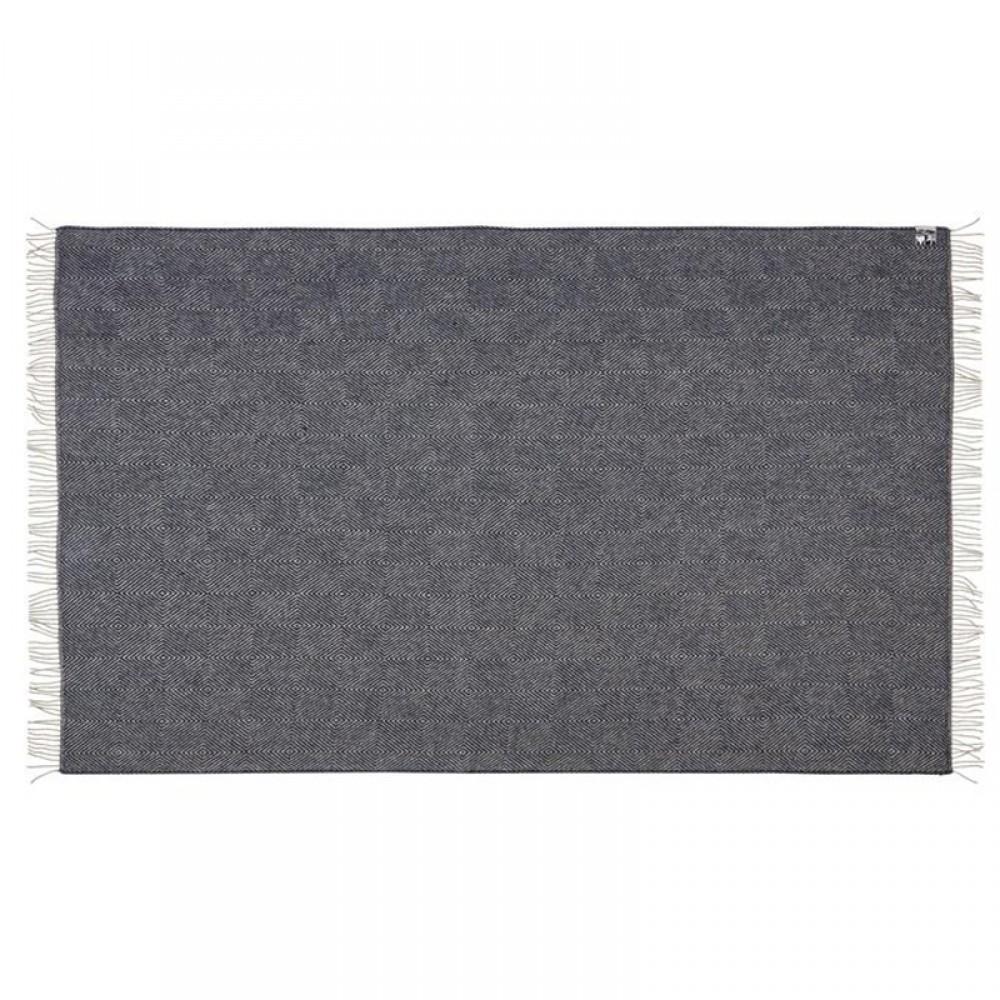 Uld Plaid Fanø Slate black 140x240cm-32