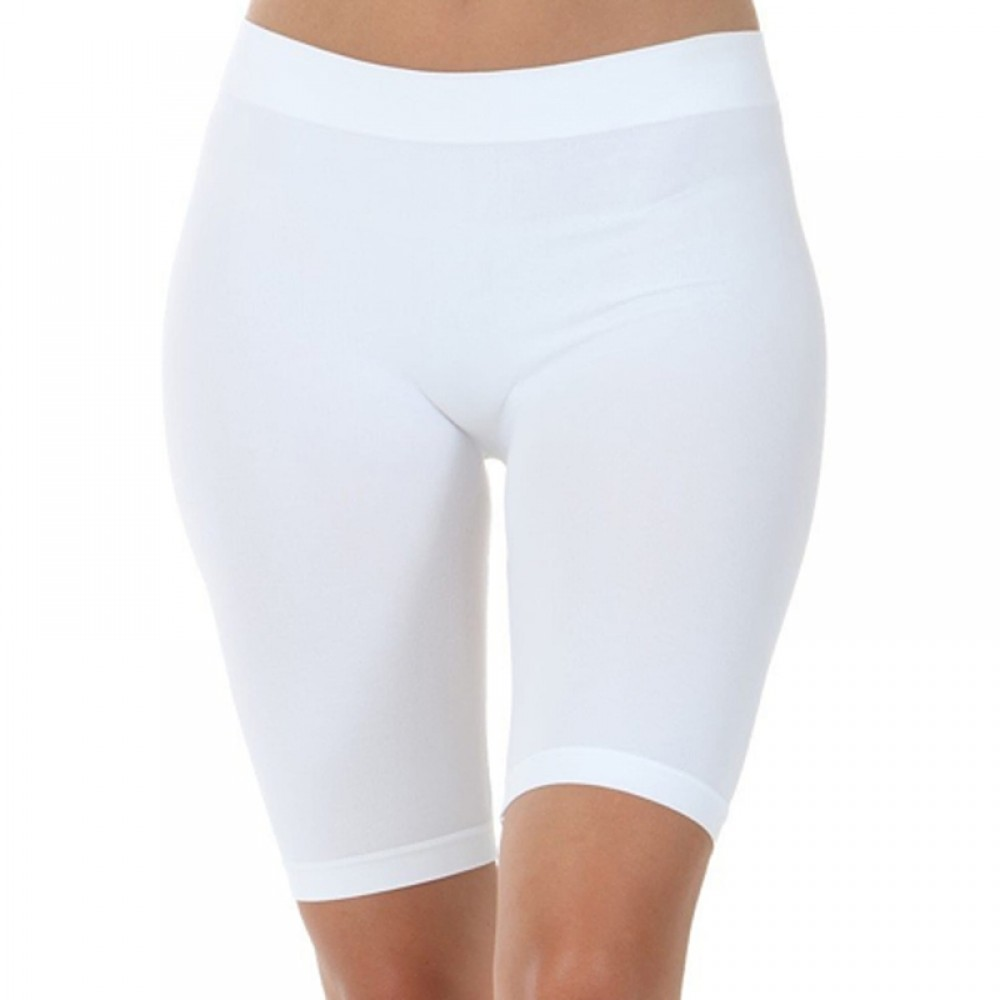 One size microfiber cykelshorts/tights - hvid