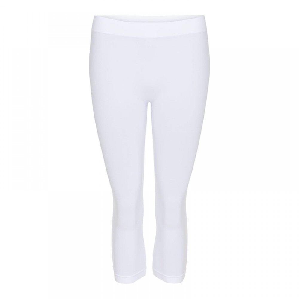 One size microfiber 3/4 tights - hvid