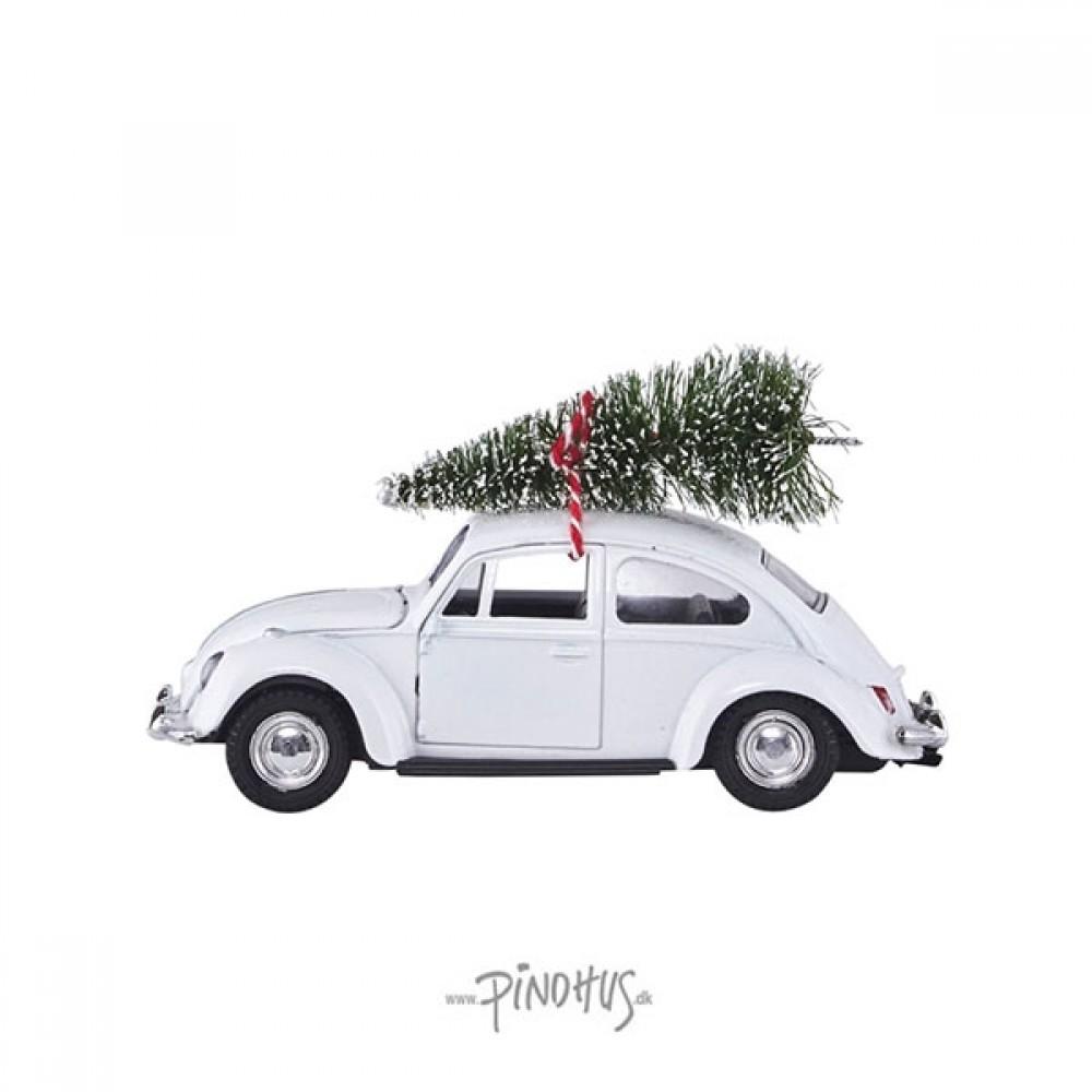 Hvid Folkevogn m/ juletræ-31