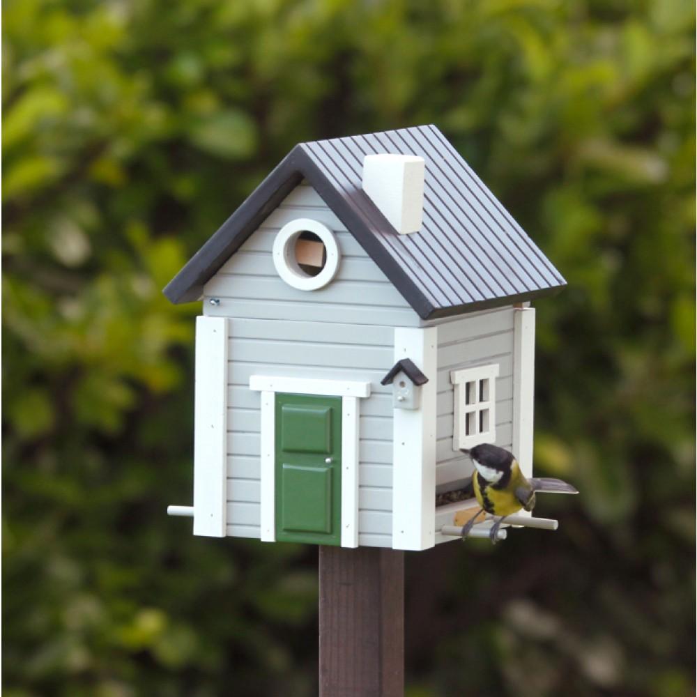 Fuglehus Wildlife Garden Grå hytte-30
