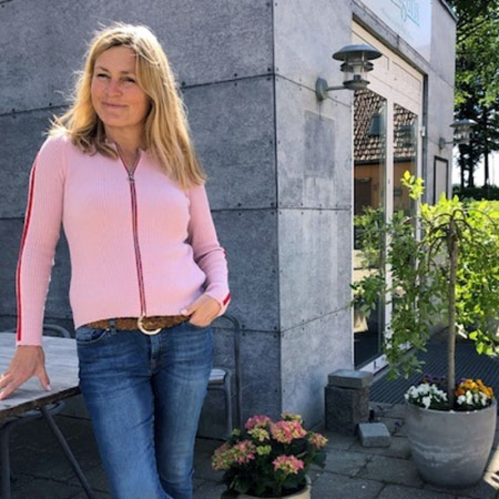 Gorridsen Design Aura cardigan rose/rød-31