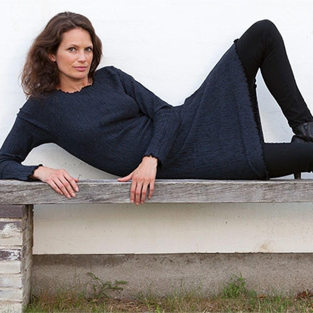 Gorridsen Design Fortuna strik-kjole blå-31