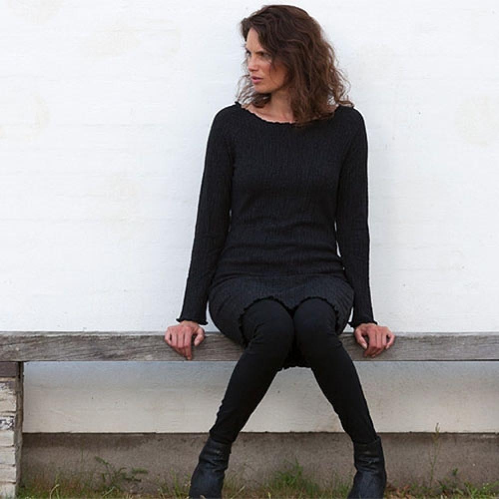 Gorridsen Design Fortuna strik-kjole grå-31