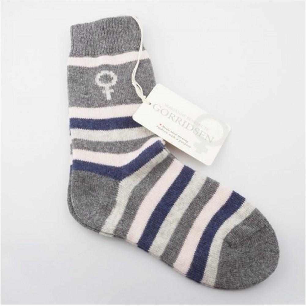 Gorridsen Design - Uld strømpe blue striped