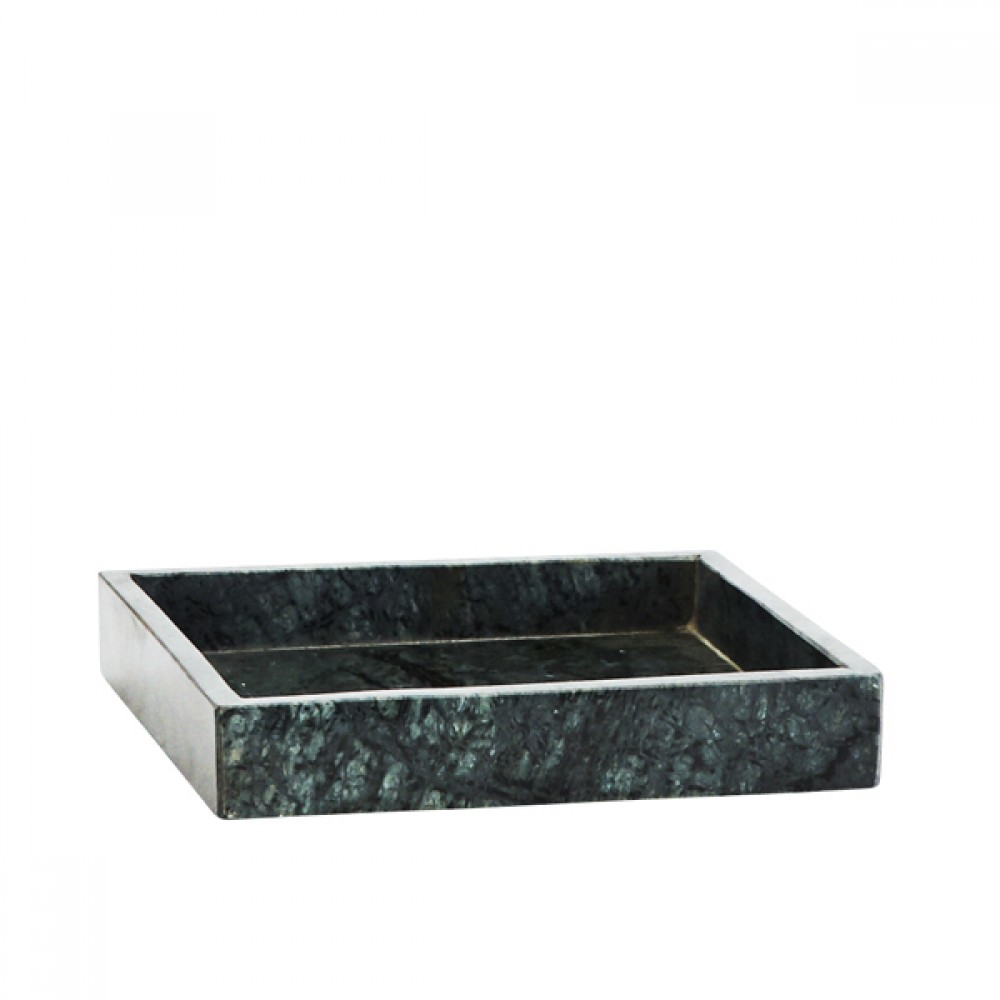 Marmor bakke grøn 23x23cm-30