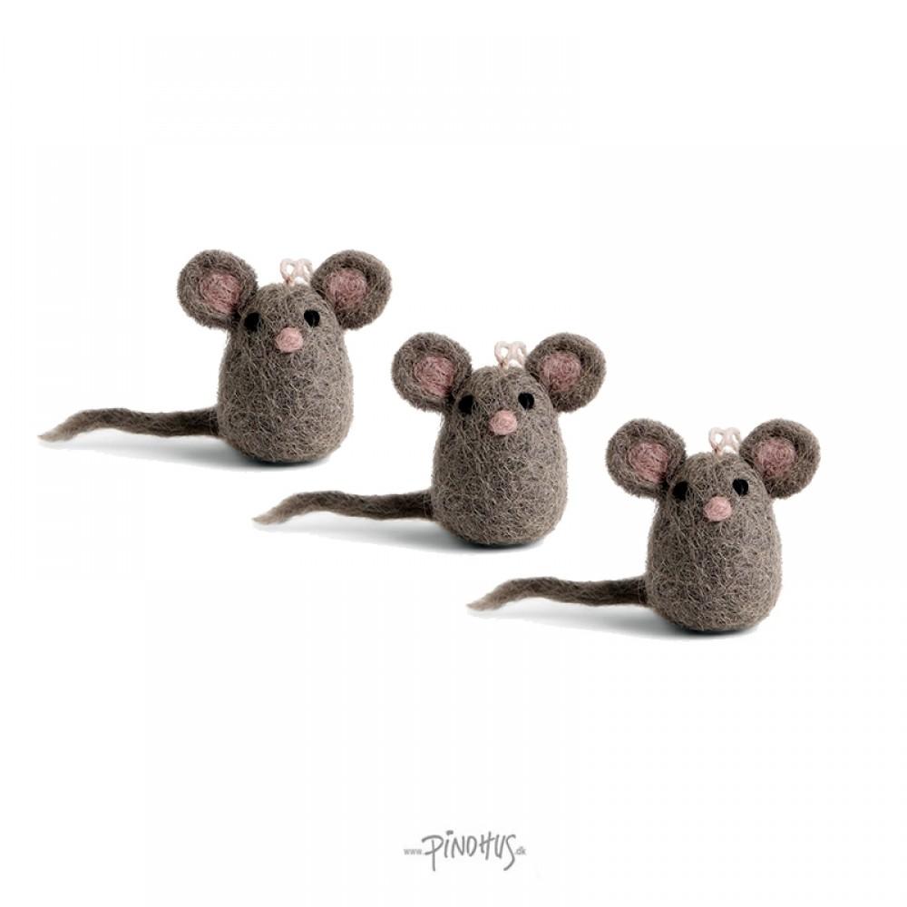 Én Gry & Sif - 3 stk mini mus