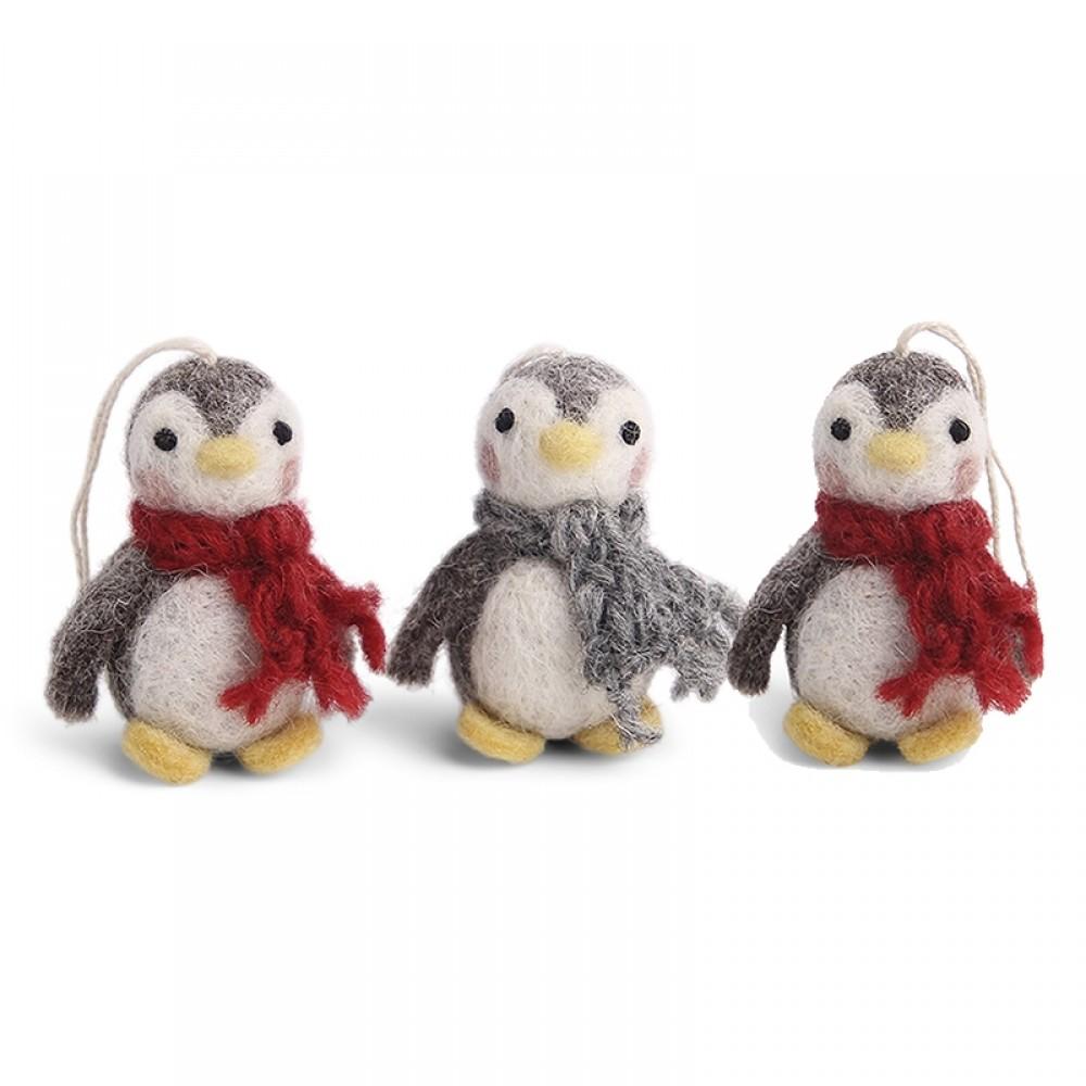 Én Gry & Sif - 3 stk baby pingvin ophæng