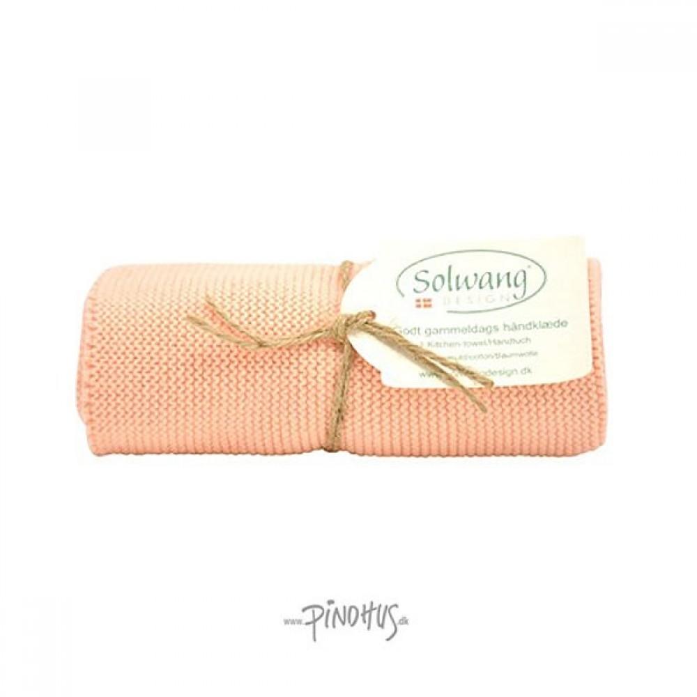 Solwang strikket håndklæde Pudder-31