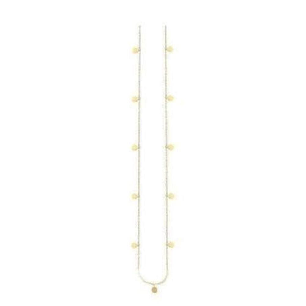Forgyldt coin halsklæde 42cm-31