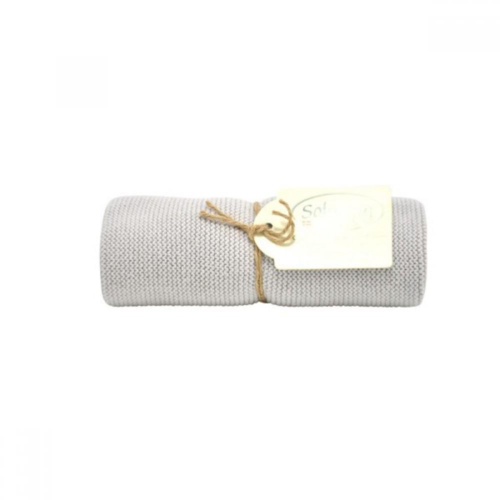 Solwang Strikket Håndklæde lys grå-30