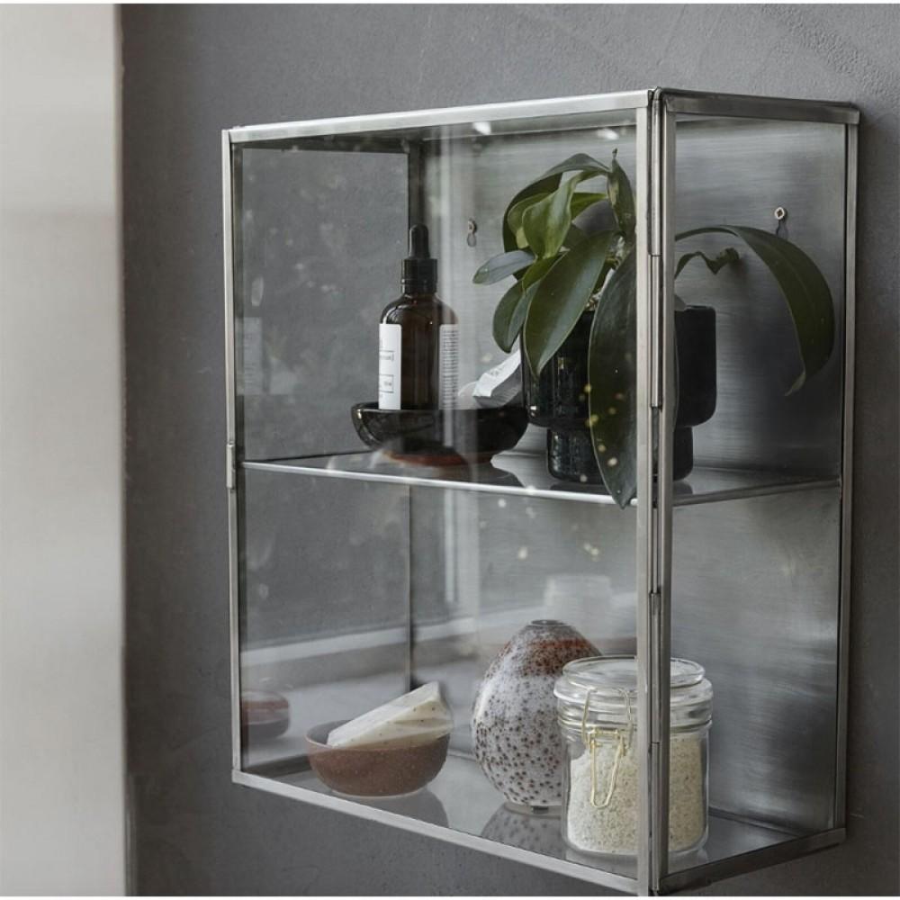 glasskab Lille stålskab fra House Doctor   fragtfri levering glasskab