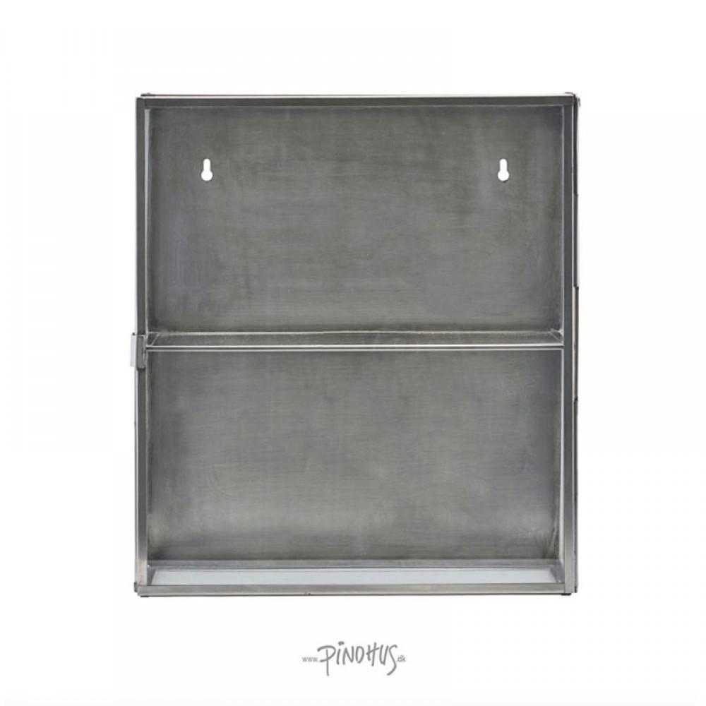 Lille glasskab m/stål kanter-31