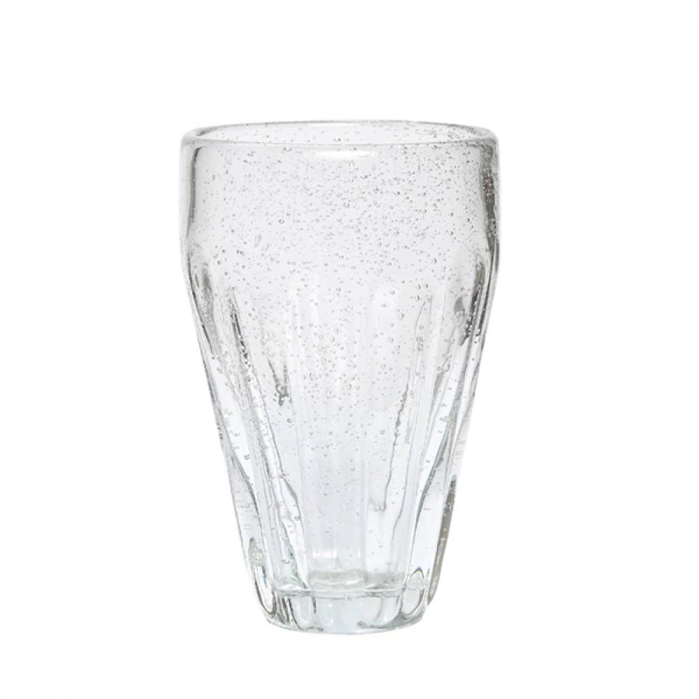 Drikkeglas m/ riller H14cm-30