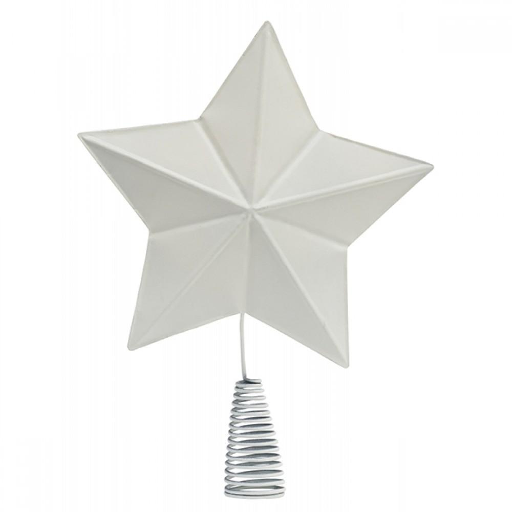Metal Topstjerne Hvid-31