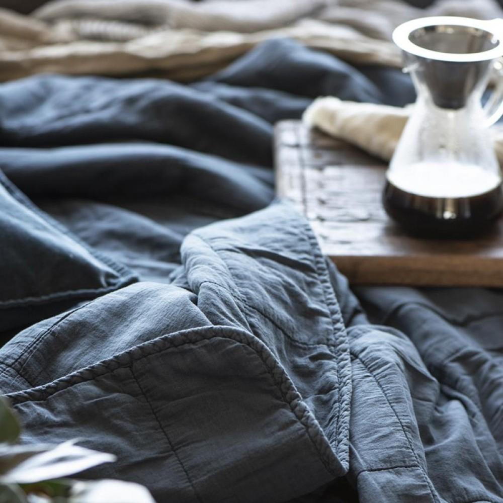Ib Laursen Historical blue Quilt tæppe-31