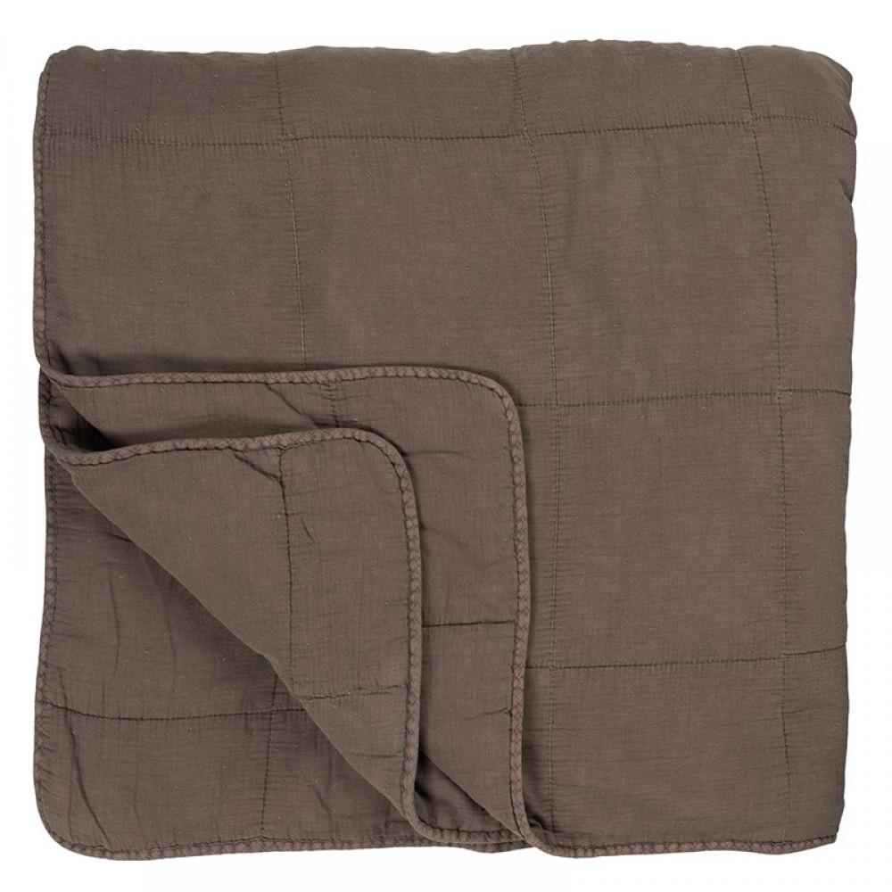 Ib Laursen - Quilt sengetæppe Jordfarvet
