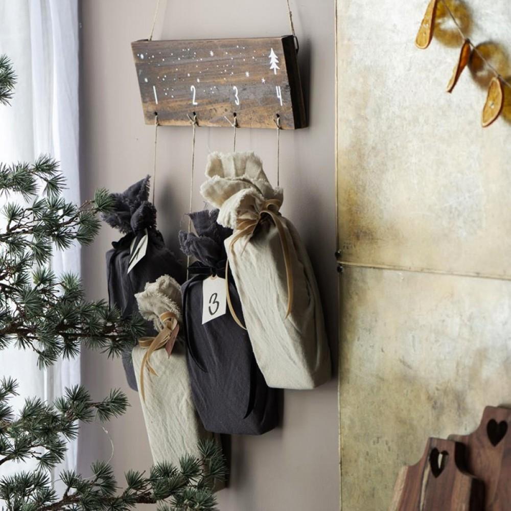 Ib Laursen - Advents kalender træ skilt 1-4