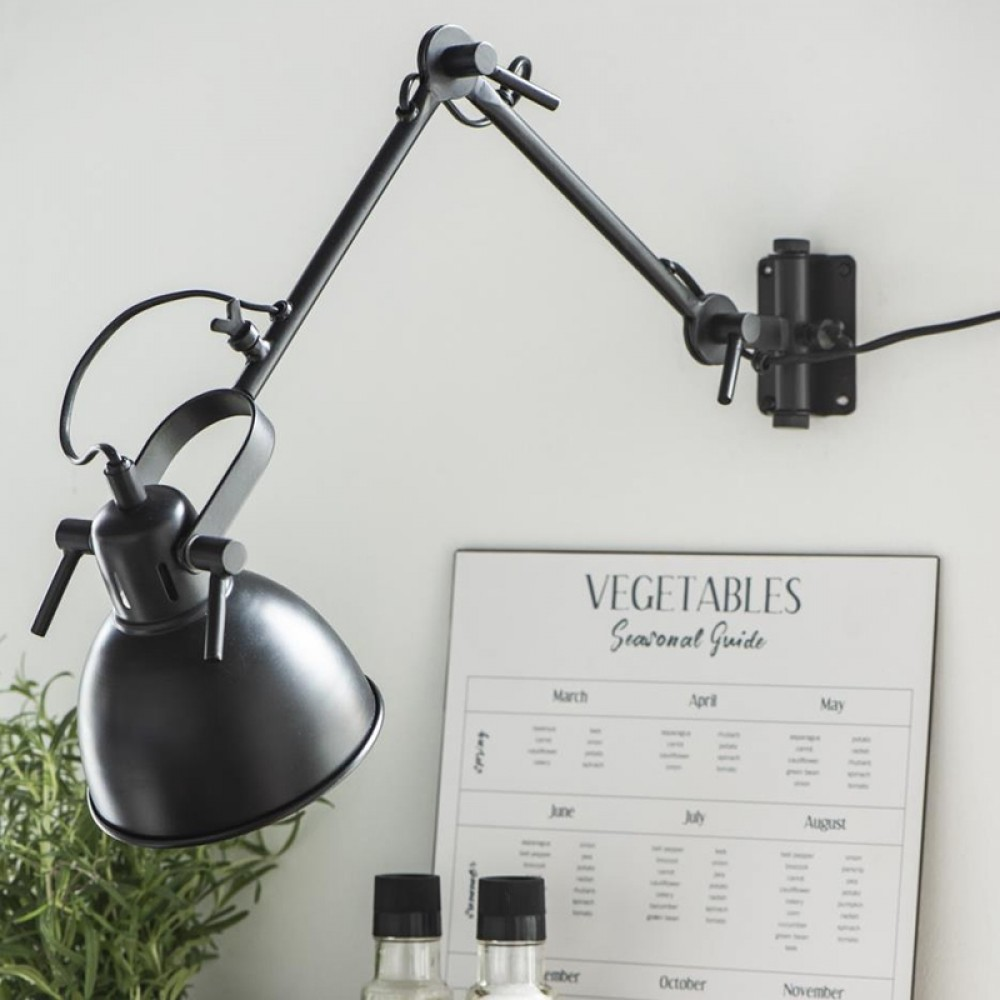 Ib Laursen - Swing væglampe sort