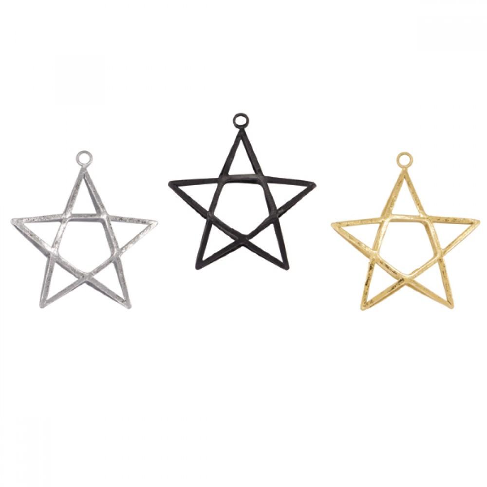 Ornament Double stjerne H9cm-30