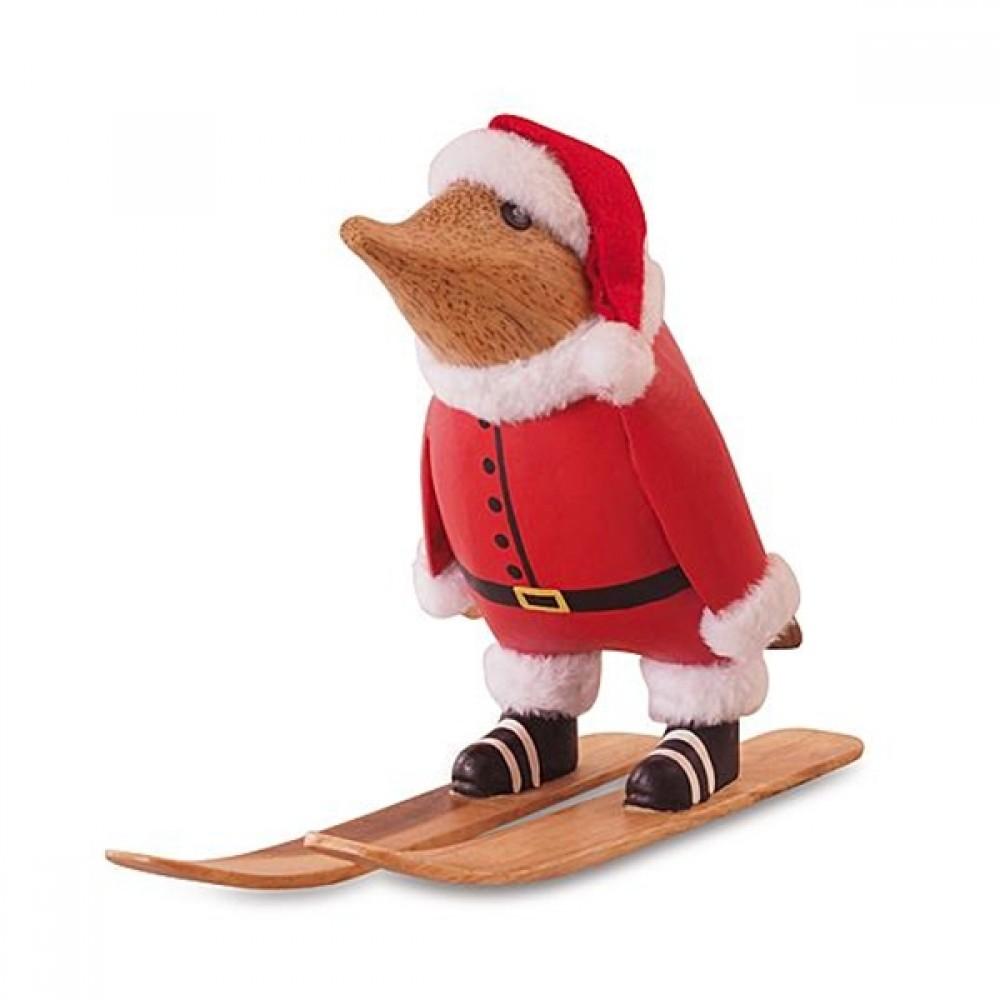 Jule Pingvin på ski