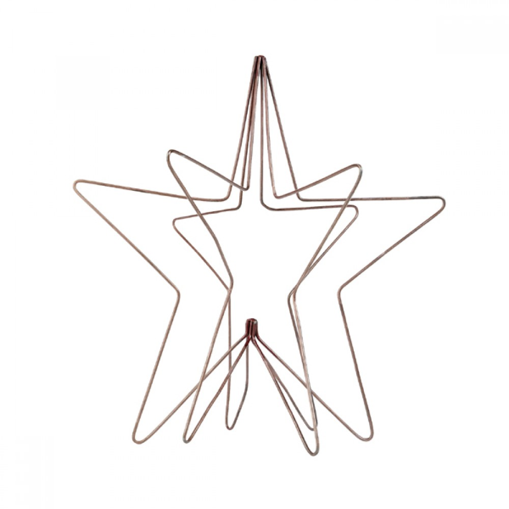 Stjerne kobber 3D-30