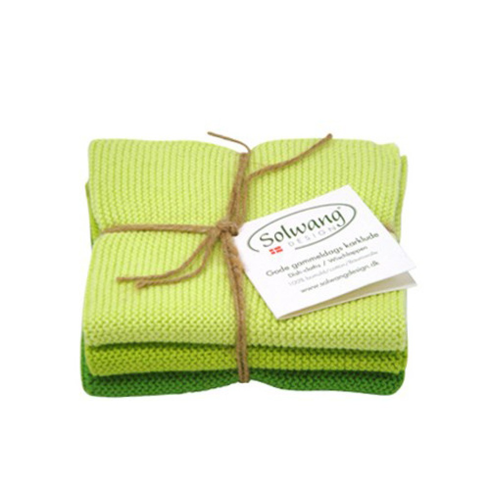Solwang Karklude 3 stk. - Lys Grøn mix