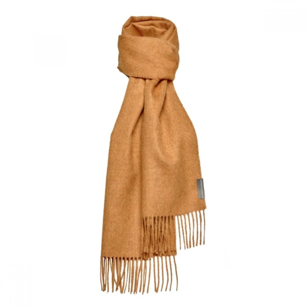 Halstørklæde Baby alpaca karry-31