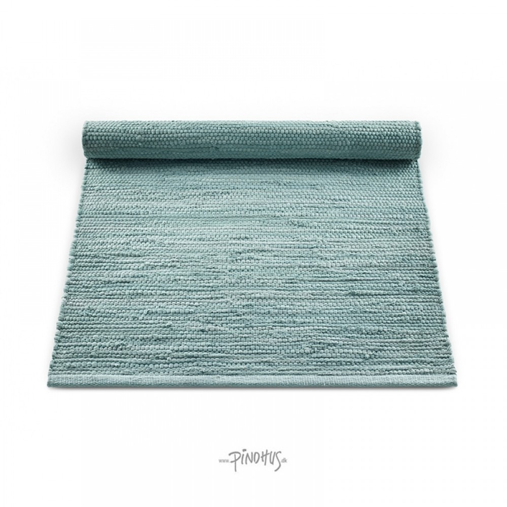 Kludetæppe bomuld - Dusty Jade