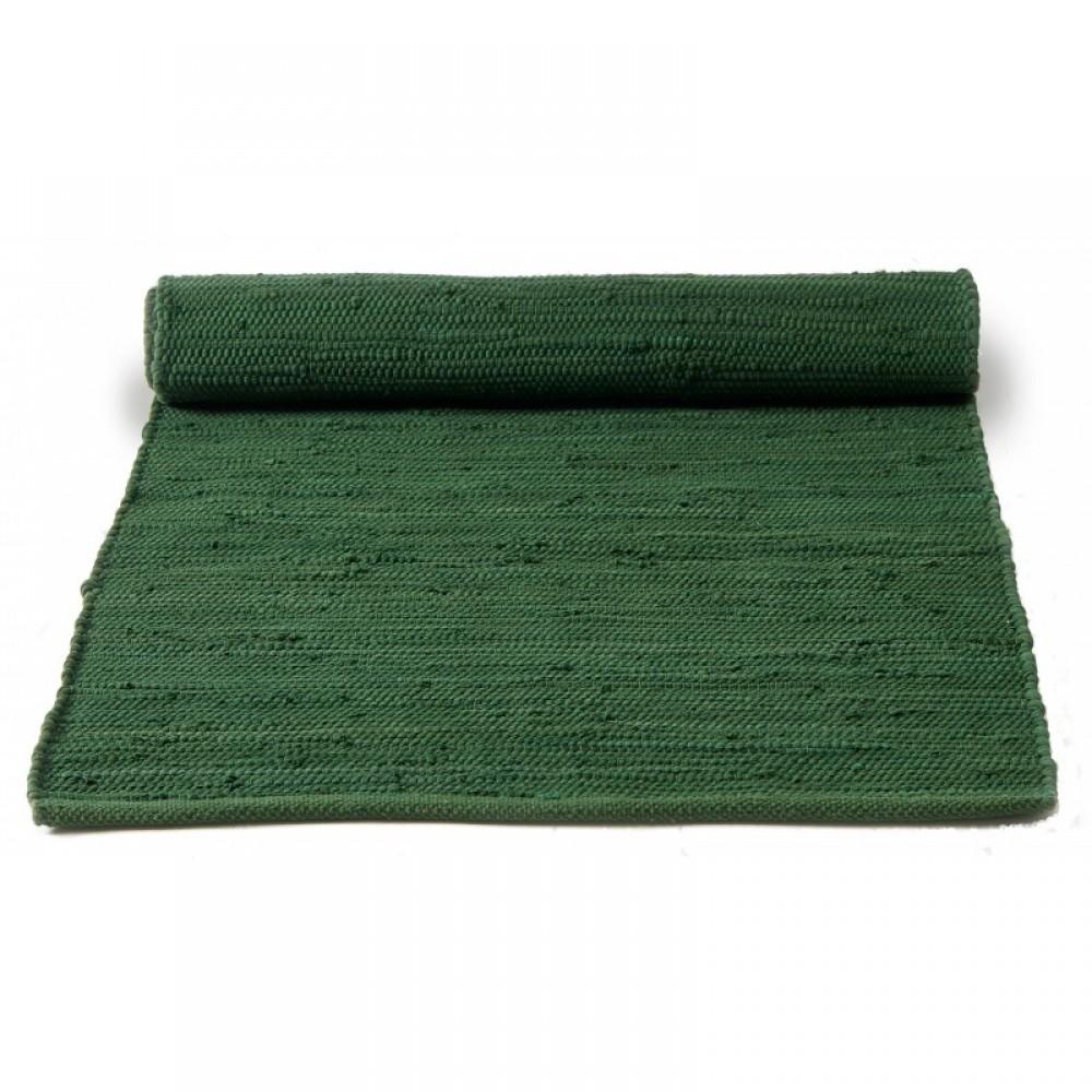 Kludetæppe bomuld - Flaskegrøn