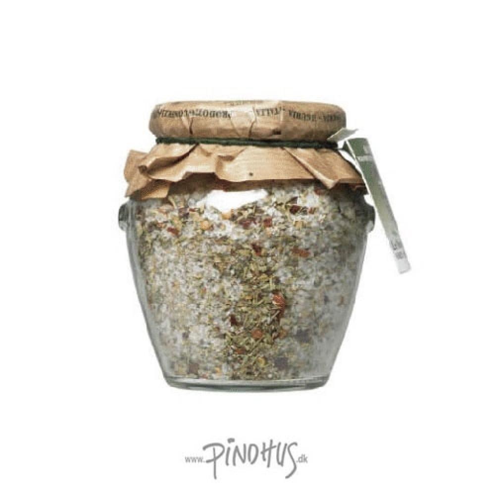 Italiensk grov kryddersalt på glas-31