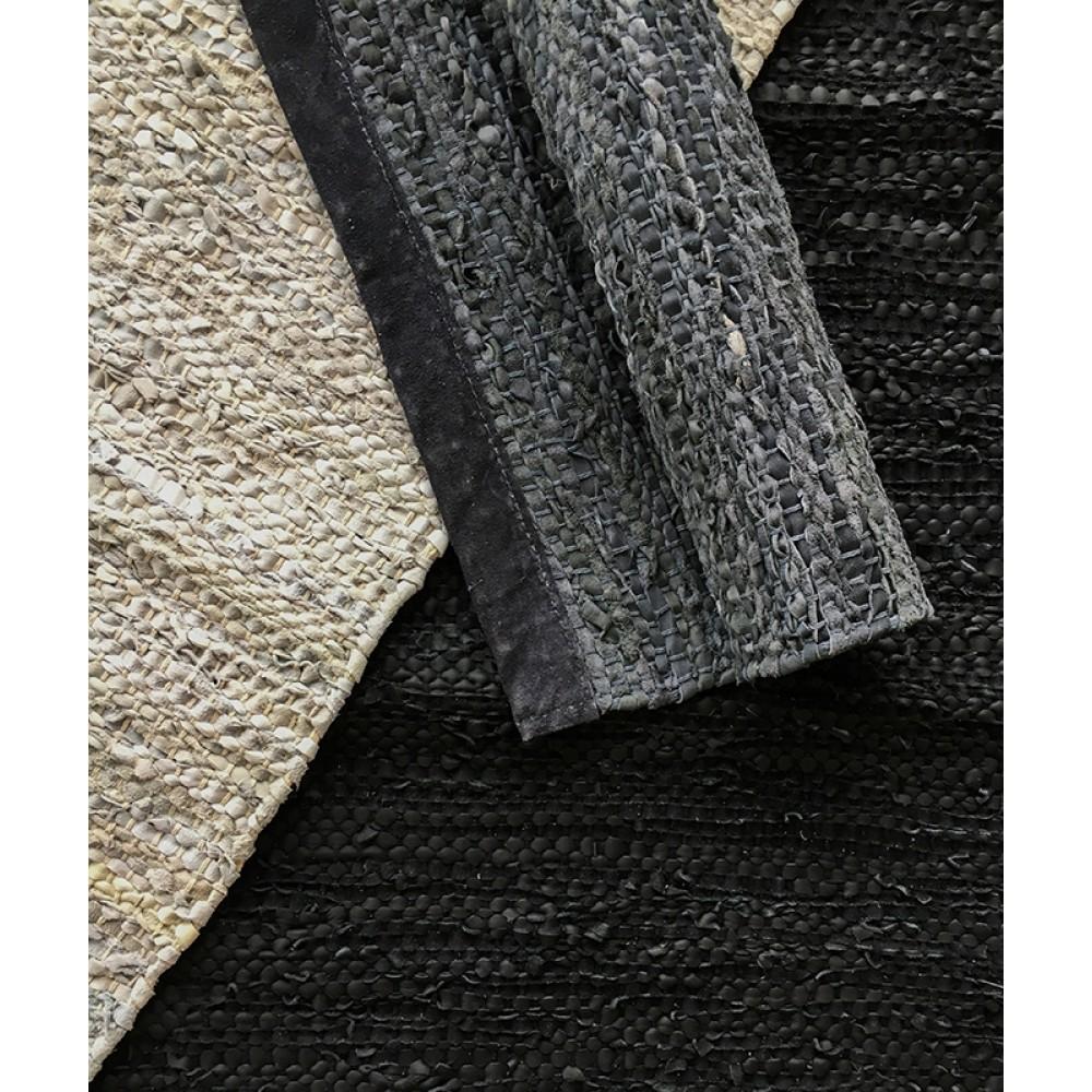 Rug Solid læder gulvtæppe Natur-31